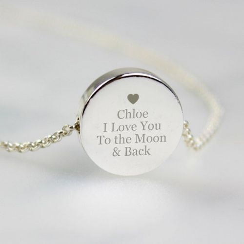 Any Message Disc Necklace